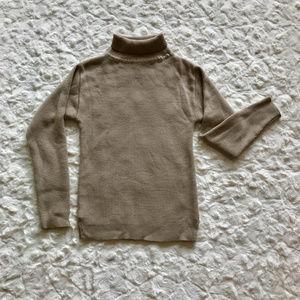 Sweaters - Beige Knit Turtleneck sz S/M